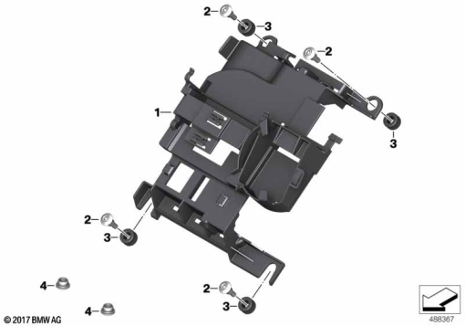 mounting locationsfor rack on a bagger